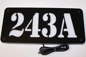 Image Is Loading Custom Led Backlit Address Sign Illuminated House Number