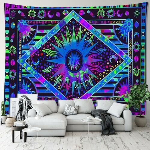 Psychedelic Mandala Tapestry Colorful Wall Hanging Home Tapestries Art Decor