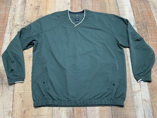 Nike Golf V-neck LS Windbreaker Pullover Pockets M