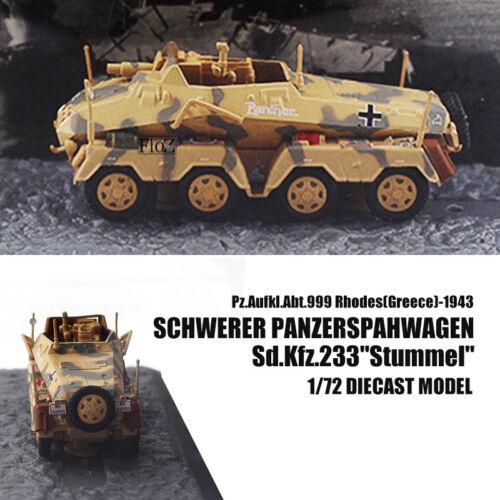 """Schwerer Panzerspahwagen Sd.Kfz.233 /""""Stummel/"""" Greece 1943 1//72 Armored Car IXO"""