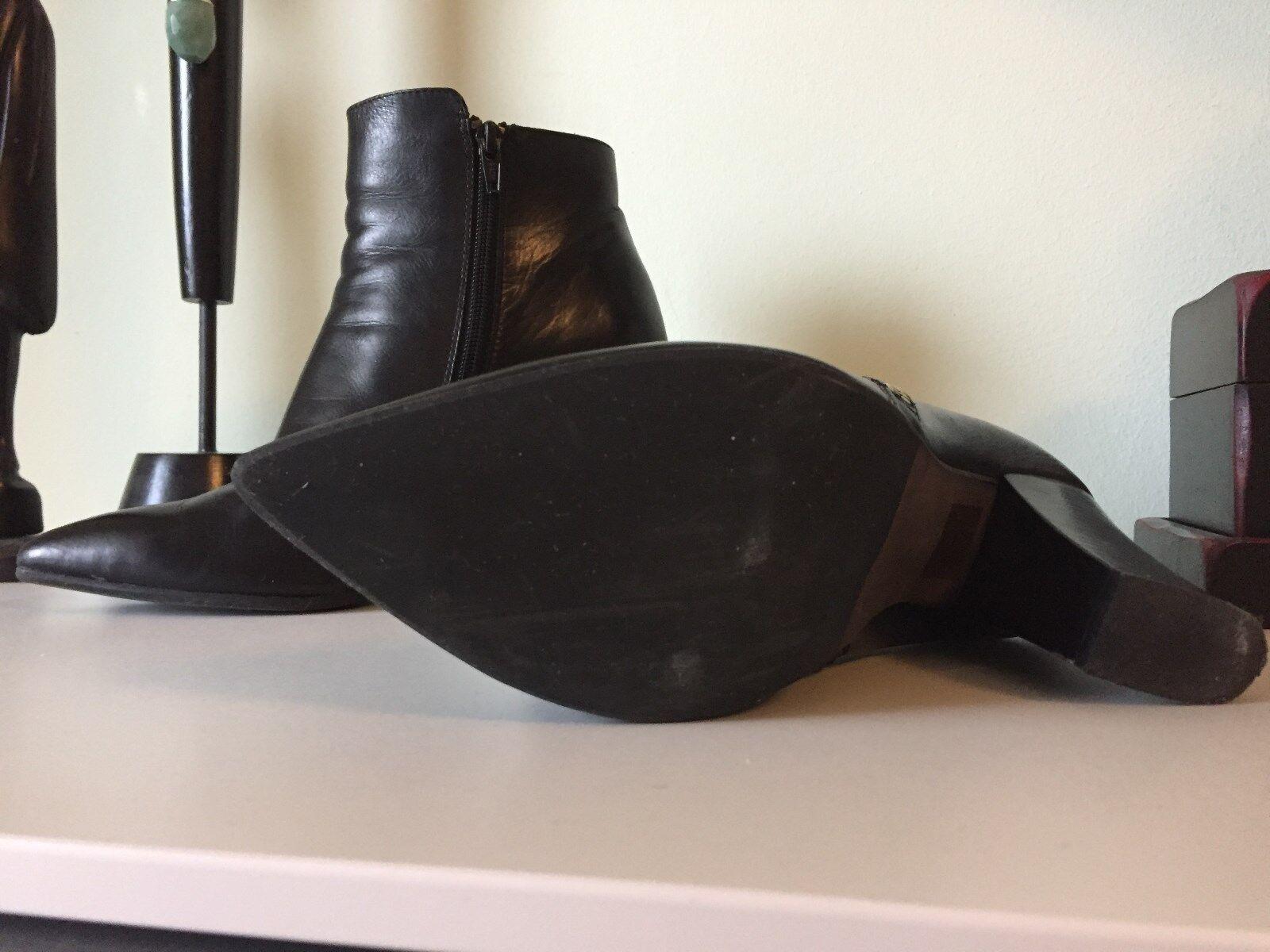 Schwarze Steffen Schraut Ankle Boots Echtleder Gr.: 40 NP: 360 Euro