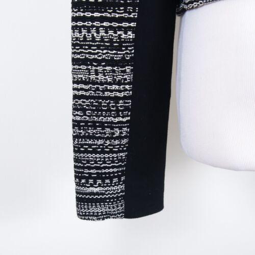 Cropped Mélange Blanc 10 Taille Noir Veste Diane Devant Von Zip Coton De Furstenberg SBqv04