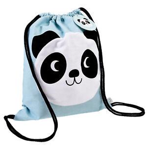 44545d98b3c09  Kindergarten Schule Stoffbeutel Turnbeutel mit Kordelzug Pandabär  Einschulung  Taschen