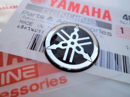 GENUINE YAMAHA R1 R6 R7 XJR YZF Fairing Emblem Badge Gel Sticker SILVER 25mm x 1