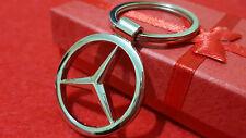 Mercedes Benz A.B,C,E, M Class Slk Car Logo Metal Keyring with Gift Pouch (S1)