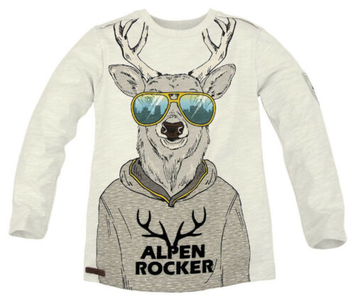 164 Bondi Manica lunga T-Shirt /'Alpi Rocker/' GRIGIO giovani bambini Trachten/% SALE/% tg