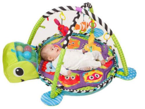 Baby Play Gym Mat Rug Musical Carpet Crawling Mat Play Gym Blanket Ball Pit Toy