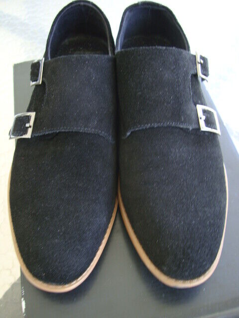 Black Suede Dress shoes worn twice Cost Originally 325.00 size 8 1 2