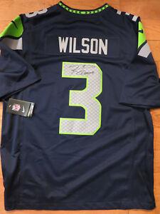 d3d014d29 Image is loading Russell-Wilson-signed-jersey-coa-Proof-Seattle-Seahawks-