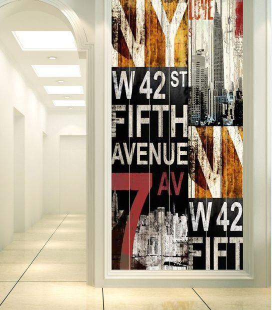 3D Alphabet Graffit Photo Papier Peint en Autocollant Murale Plafond Chambre Art