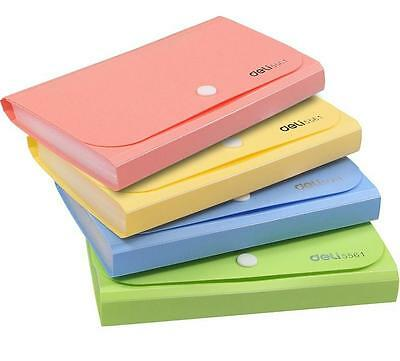 DI US File Document Bag Pouch Bills Folder Card Holder Organizer Fastener Random