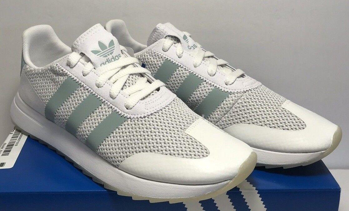 Adidas damen Größe 10 Originale FLB Running Weiß Tactile Grün schuhe BY9685 New