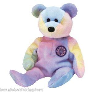 Ty Beanie Baby Babie   BB Bear   B.B. Bear The Birthday Teddy Bear ... 5397ec08a9b