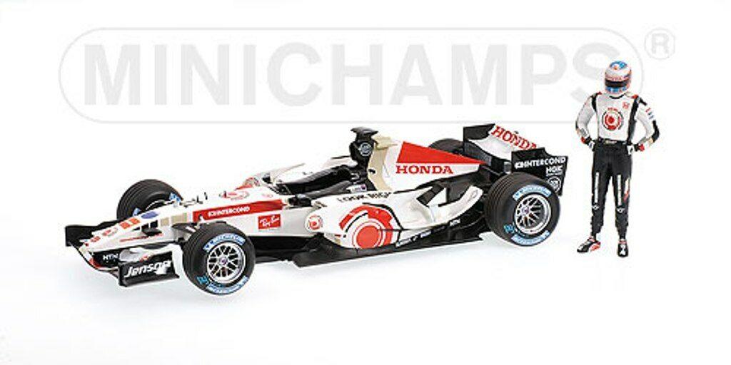 Minichamps 100 060112 HONDA F1 modello Jenson Button 1st WIN GP Ungheria 2006 1 18