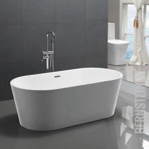 Details zu Freistehende Design Badewanne MIO Modern Armatur Bad Wanne  Nahtfrei Standarmatur