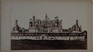 Château Da Chambord Francia Foto CDV PL45L2n1 Vintage Albumina c1860
