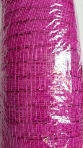hot pink metalic Decorative Mesh  6in x 10yd FloraCraft pink for wreaths crafts