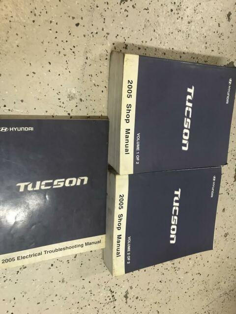 2005 Hyundai Tucson Service Repair Shop Manual SET FACTORY ...