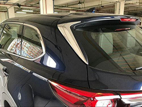 fits 2016-2019 Mazda CX-9 Chrome Rear Windscreen Spoiler Windshield Wing Cover