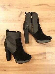 4fe076564ffe58 Diesel Hi-travis Ankle Boot Booties Heels Black Women s Size US 6 ...