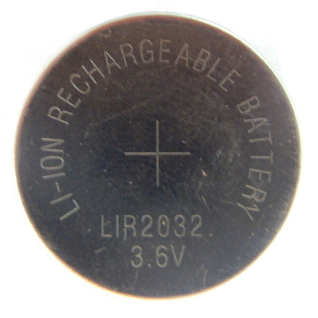 4 X 2032 Battery Li-Ion Rechargeable Button Cell LR2032 CR2032 3.6v