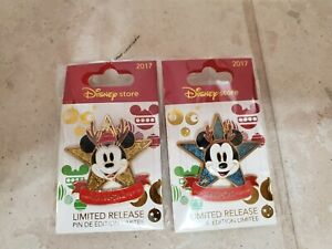 Lot-of-2-Disney-Store-Pins-Mickey-Minnie-More-Magical-Together-Reindeer