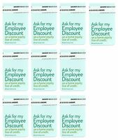 Ask For My Employee Discount Lot Of 10 Self-adhesive Tag Labels Bank Home Equity