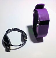 Fitbit Charge HR Used Plum Size SMALL WITH CHARGER CABLE WORKING CONDITION