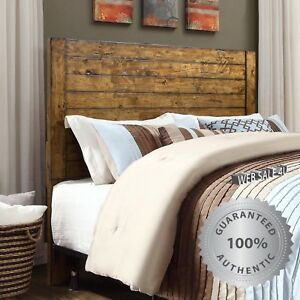 Details about Solid Wood Bed HeadBoard Queen Full Bedroom Furniture Rustic  Plank Farmhouse US