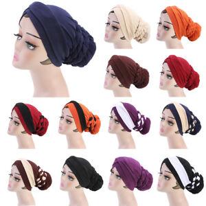 Women-Muslim-Stretch-Hijab-Cap-Chemo-Head-Scarf-Turban-Hat-Braid-Wrap-Islamic