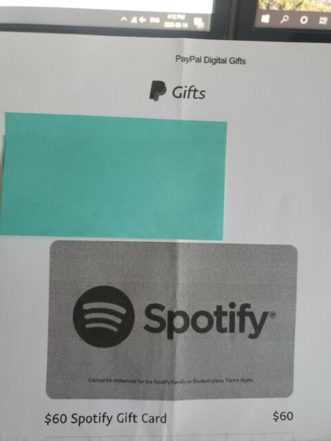$60 CAD Spotify Gift Card