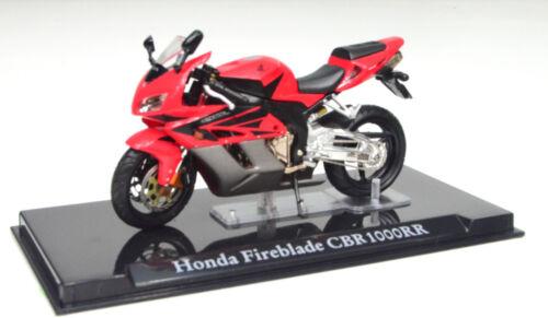 HONDA CBR 1000 RR Fireblade rosso scala 1:24 Moto Modello di Atlas die-cast