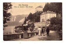 C001955  ORTA   NOVARESE   VILLA ON. CURIONI E VILLA GREPPI  ANIMATA  VG  1915