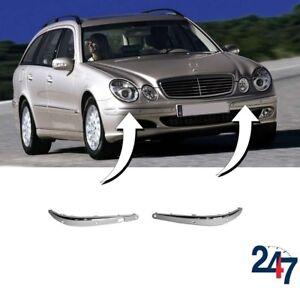 Mercedes Derniers Modèles >> Details Sur Neuf Mercedes Benz E W211 02 06 Pare Choc Avant Chrome Contour Garniture Avec