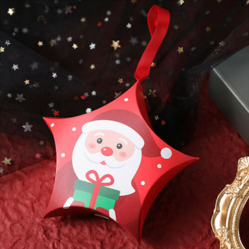 10X Christmas Gift Boxes Creative Candy Box Xmas Wedding Party Favour Gift Box