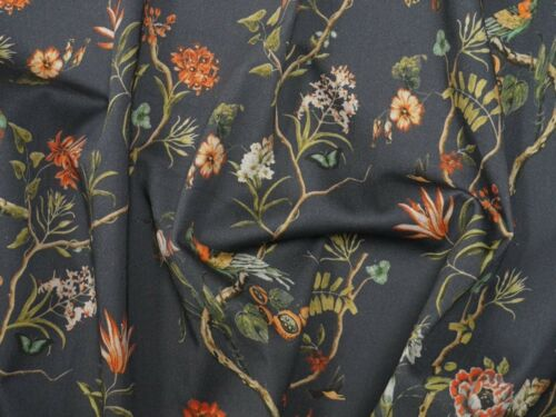 LM-CharcoalDreamSC-M Lady McElroy Charcoal Dream Stretch Cotton Dress Fabric