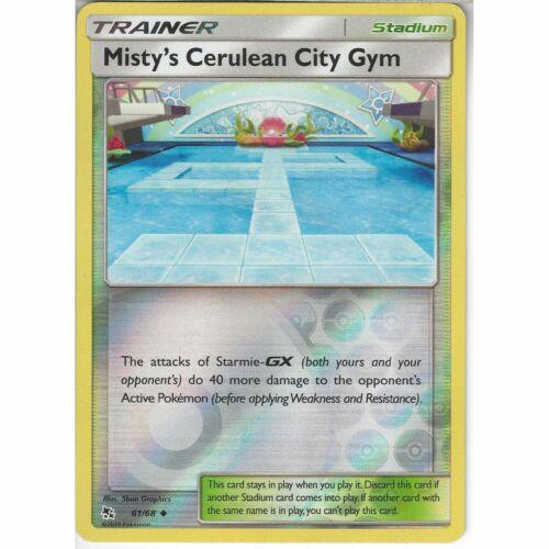 61//68 Misty/'s Cerulean City GymUncommon Reverse Holo Pokemon TCG Hidden Fates