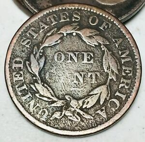 1835-Large-Cent-Coronet-Head-1C-Ungraded-Good-Date-Early-US-Copper-Coin-CC4794