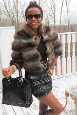 New Neiman Marcus Sorbara Barguzine Silver Tip Russian sable Fur Coat jacket S-6