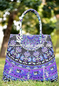 Indian-Handbag-Tote-Bag-Mandala-Purse-Lady-Shoulder-Cotton-Women-Satchel-Multi
