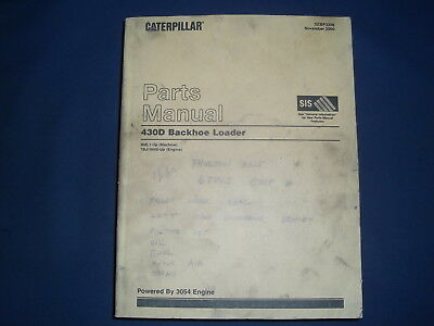 CAT CATERPILLAR 430D BACKHOE LOADER PARTS MANUAL BOOK S//N BML00001-BML02280