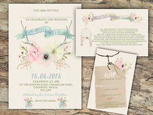 PERSONALISED-RUSTIC-WATERCOLOUR-PASTEL-FLORAL-ANTLER-WEDDING-INVITATIONS-10-039-S