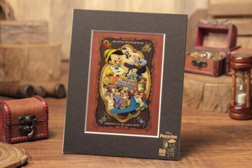 New Disney Store Japan Pinocchio 80th Anniversary Art Picture Stand Not for sale