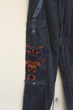 NWT Da-Nang Size S/Mjr Embroidered Tabs Studs Eight Pocket Cargo Pants