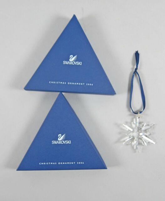 2006 Swarovski Annual Christmas Snowflake Ornament MIB ...