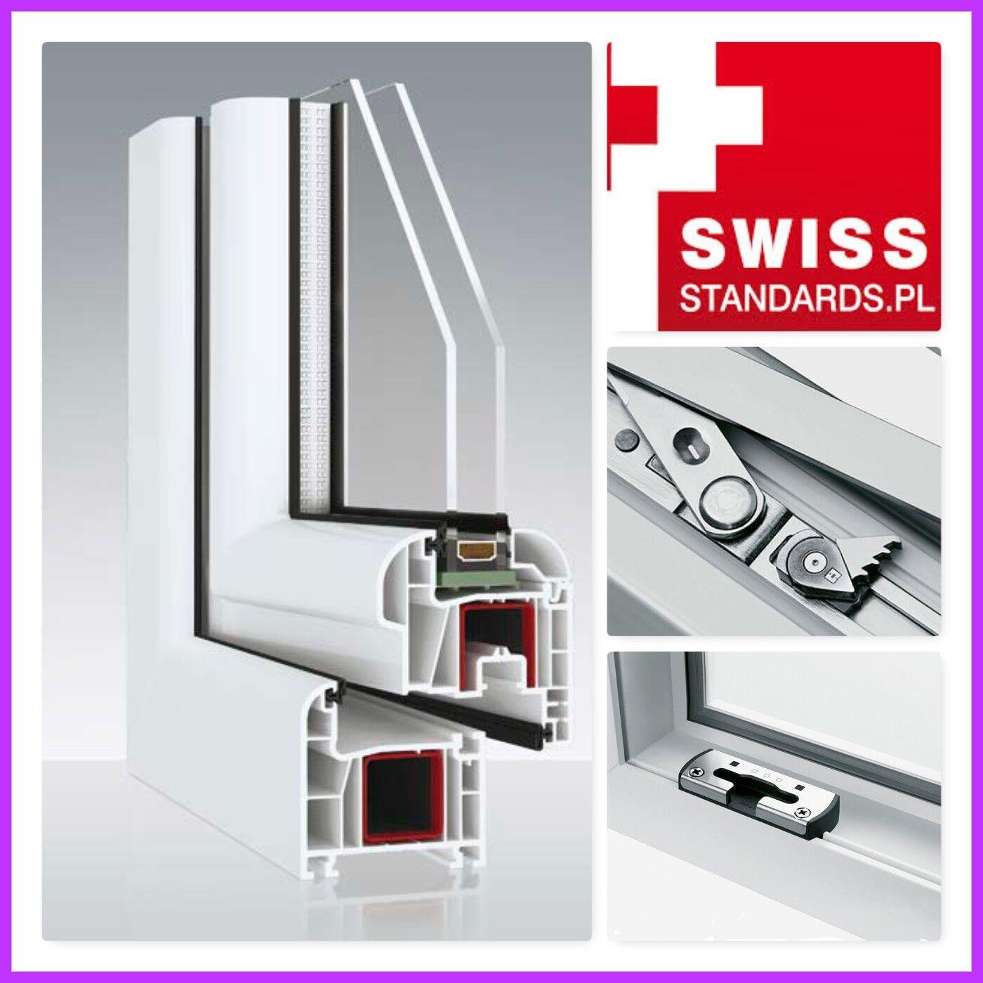Kunststofffenster Weiß Dreh Kipp 2 oder 3 Fach Verglast 1 flg. Avantgarde 9000
