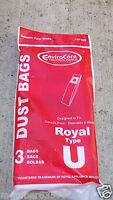 Vacuum Cleaner Style U Bag Bags Fit Dirt Devil 3920047001 M86360 Mdu6300 M08630