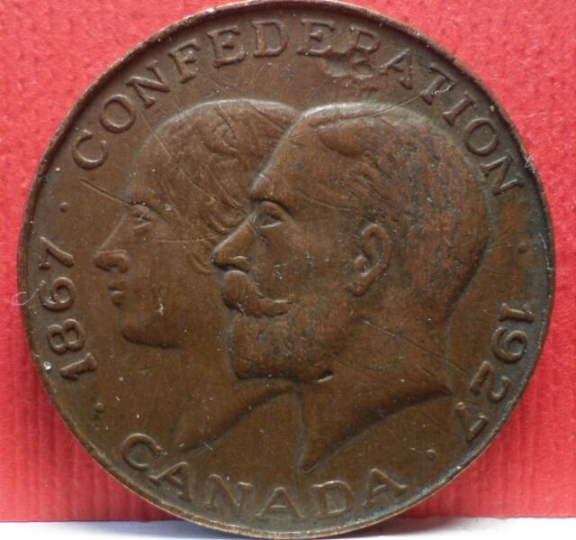 1867 - 1927 Confederation Medal / Token from Canada T-064