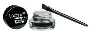 Technic-Gel-Eyeliner-amp-Brush-Long-Lasting-Black-Makeup-Liner-Eye-21514