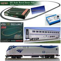 Kato 30-2003 Ho Unitrack Starter Train Set Ge P42 Amtrak Phase Vb W Superliner on sale